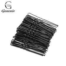 <b>Black Plated Metal Thin</b> U Shape Hairpins Hair Clips Hair Styling ...