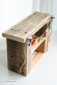 reclaimed wood fireplace with burlap pennant how to make upcycled dollhouse furniture funkyjunkinteriors burlap furniture