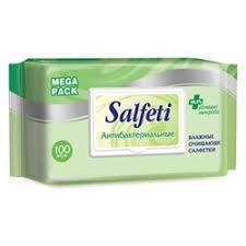 """<b>Салфетки влажные SALFETI</b> """"<b>Антибактериальные</b>"""", 100 штук ..."""