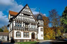post office bad liebenstein thuringia germany europe building home office awful