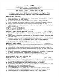 regulatory affairs resume resume examples objective
