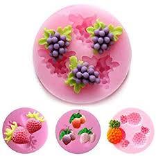 4 piece Fruit Silicone Cake Molds, Fondant Soap ... - Amazon.com