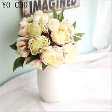Йо Чо искусственные пионы листья шелковые <b>розы</b> домашние ...