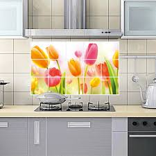 kitchen flower wall tile oil proof wall sticker free shipping cm cheap removable d flower kitch