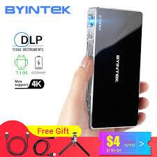 BYINTEK P10 Smart Android Wifi <b>Mini Pocket</b> Pico Portable Beamer ...