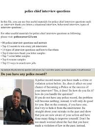 police chief interview questions