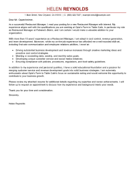 restaurant manager cover letter examples bar manager cover letter