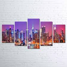 New York Skyline <b>5 Piece Canvas</b> Set – Iconic Canvas