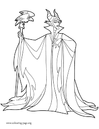 Small Picture Maleficent Maleficent holding her staff coloring page
