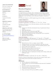 electrical engineering resume format template electrical engineering resume format