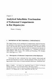 analytical subcellular fractionation of endosomal compartments in inside