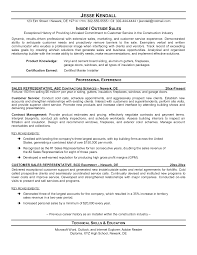 Resume For Sales Representative Position Outside Sales Resume     Resume For Sales Representative Position