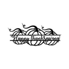 <b>Three Pumpkins</b> saying Happy Thanksgiving – Indiana Metal Decor