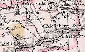Bildergebnis für Woldenberg neumark landsberg landKarte
