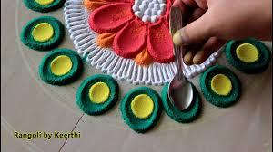 Big Navratri/ diwali special rangoli <b>designs</b> with colours l rangoli ...