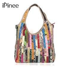 <b>iPinee</b> Brand Colorful Snake Pattern Ladies Tote <b>100</b>% <b>Genuine</b> ...