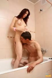 Teen couple having sex in the bathroom in 15 photos from Teen Sex.