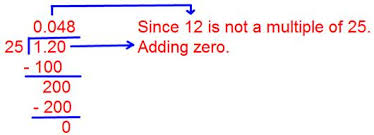 Division of a Decimal by a Whole Number   Rules of Dividing Decimals Math Only Math