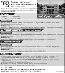 sukkur institute of business administration job advertisement