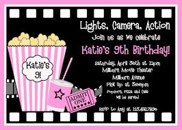 printable birthday invitations girls movie party girls printable birthday invites