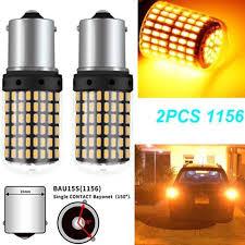 <b>2pcs</b> 12V <b>1156 144SMD BAU15S</b> PY21W Canbus Amber Car LED ...