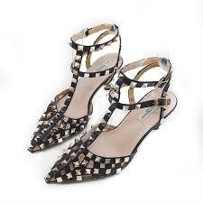 New <b>Baotou sandals</b> female <b>summer</b> Roman <b>rivets</b> with a word with ...
