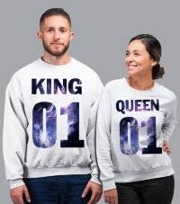 <b>Парные</b> толстовки (Свитшоты) <b>KING &</b> Queen (комплект 2 шт ...