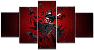 Itachi uchiha naruto anime print poster canvas in 5 ... - Amazon.com