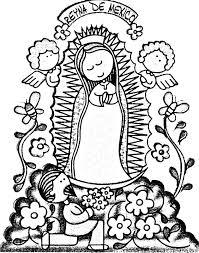 Resultado de imagen para Virgen de Guadalupe para colorear