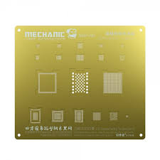 <b>Mechanic 3D BGA Reball</b> Gold Stencil for A8 iPhone 6 / 6 Plus