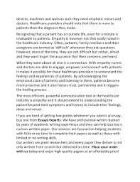 essay on healthcare importance of empathy in healthcare sample essay