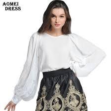 <b>Womens Spring Solid White</b> Chiffon Blouse Shirt   <b>White</b> chiffon ...