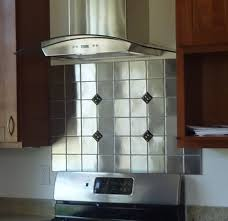 kitchen backsplash stainless steel tiles: image of stainless steel tile backsplash