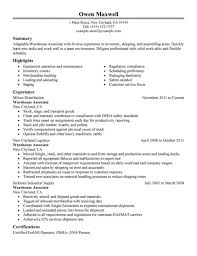 how to write a professional summary on a resume resume summary    working resume sample warehouse worker resume sample template resume example   resume examples for warehouse worker