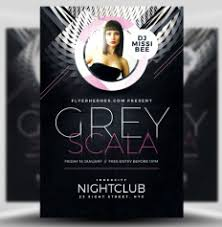 flyer templates by flyerheroes grey scala flyer template