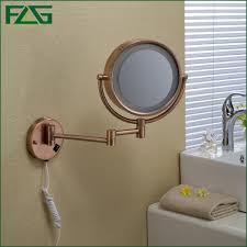 bathroom door mirror sides flg bathroom cosmetic mirror rose gold led light makeup mirrors quot r