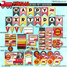 Firefighter Cupcake Decorations Fireman Party Printable Collection Mimis Dollhouse