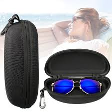 TSV Zipper <b>Eye Glasses Sunglasses</b> Hard Case <b>Storage</b> Box Holder ...