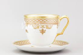 <b>Чашка с блюдцем</b> чайная ф. Александр III рис. <b>Рококо</b>