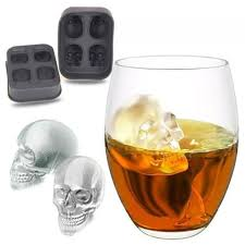 Sale 1PC Hot Large Ice Cube Tray Pudding Mold <b>3D Skull Silicone</b> ...