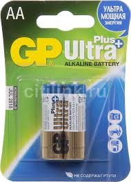 Купить AA <b>Батарейка GP Ultra Plus</b> Alkaline 15AUP LR6 в ...