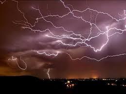 للبرق والرعد
