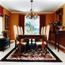 size dining room brown