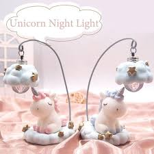 <b>Ins Cartoon Unicorn Lamp</b> LED Night Light Luminaria Baby Nursery ...