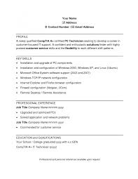 cover letter template for sample resume computer technician doc pc gallery of sample resume for computer technician