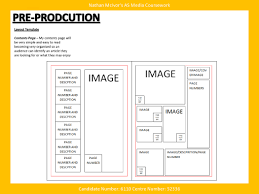 media music magazine pre production layout template layout layout templates for my front cover contents page and double page sp