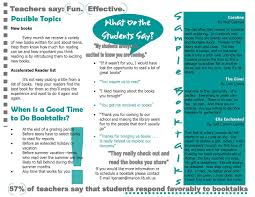 bootalk it developing a booktalk program to network area in addition i gathered feedback from students and teachers over the years to help