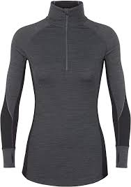 Icebreaker Women's 260 Zone LS <b>Half</b> Zip <b>Jacket</b>, Jet HTHR/Black ...