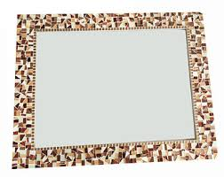 mosaic wall decor: brown wall mirror mosaic wall art home decor stained glass mosaic