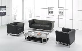 modern white office also high gloss white floor for office furniture couch adding tufted black leather black leather sofa office